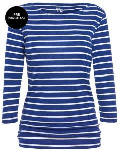 Breton Top Cobalt stripe front
