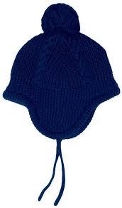 Cable Knitted Hat i Navy från Jojo Maman Bebe