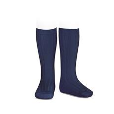 Knit Socks Navy Amaia Kids