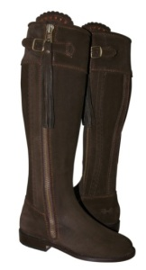 Spanish Boots in Chocolate Suede