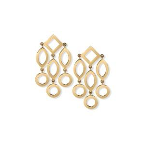 Temple of Heaven Gold Earrings