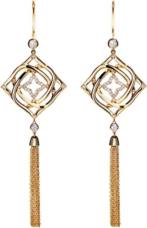 'Party Tassels' i Guld med Diamanter Emma Engelbert