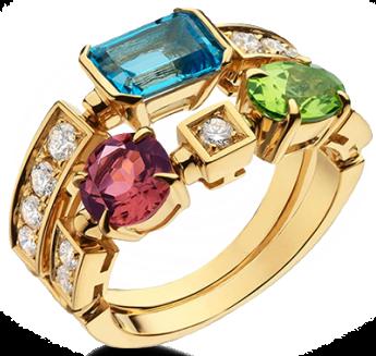 allegra-two-band-18ct-yellow-gold-pink-tourmaline-peridot-blue-topaz-and-pave-diamond-ring-bvlgari