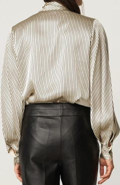 'Aluda' Blus i Svart By Malene Birger bak