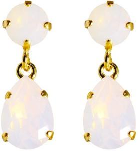 Classic Drop Earring i White Opal Caroline Svedbom