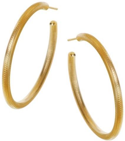 'Esme' Stora Øreringe i 18 G Guld Dulong Fine Jewelry