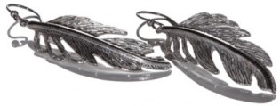 Feather Earring i Silver Cooee