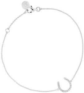 Horseshoe Bracelet i White Gold 18 k with White Diamonds Sophie by Sophie
