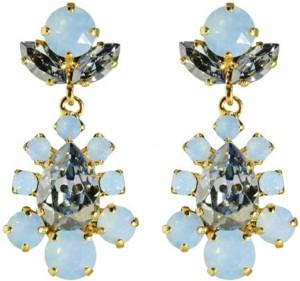 'Larissa' Earrings i Blue Shade + Air Blue Opal Caroline Svedbom
