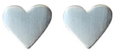 Project Playground Pilgrim örhängen hjärtan silver