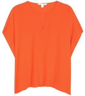 Abbi Silk Blouse Orange Diane von Furstenberg