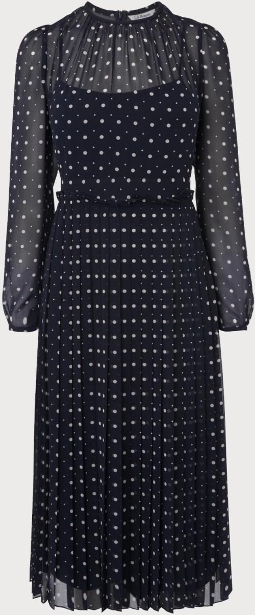 'Avery' Polka Dot Dress i Navy L.K. Bennett