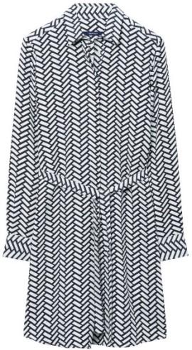 Braid Print Skjortklänning i Black GANT fram