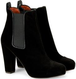 'Carmen' Velvet Boots i Black Penelope Chilvers