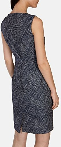 Cross Hatch Jacquard Pencil Dress i Blue Karen Millen bak