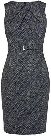Cross Hatch Jacquard Pencil Dress i Blue Karen Millen fram