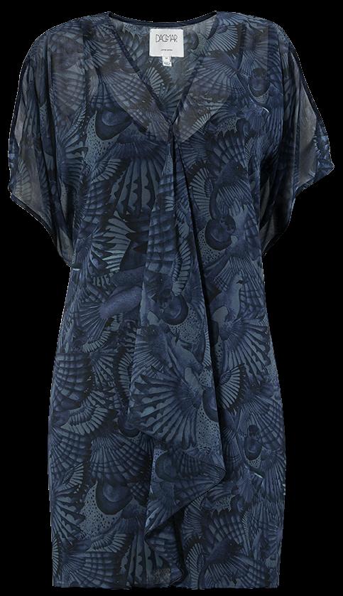 'Dana' i Feather Blue Print Dagmar