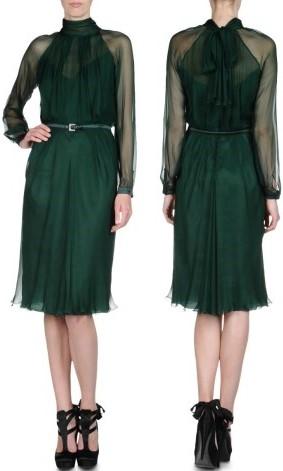 dark green shirtdress alberta ferretti €1212