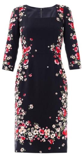 Dolce & Gabbana Multicolor Flower Dress fram