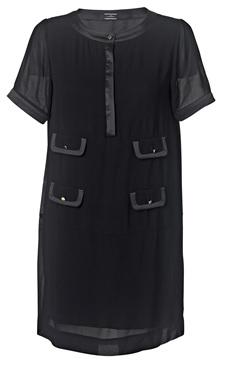 'Diama' Feminine Dress i Black från By Malene Birger fram