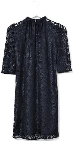 'Feluca' Dress i Black Navy Ole Yde bak