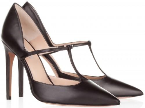 'Gianella' High Heel Shoes i Black Leather Pura López