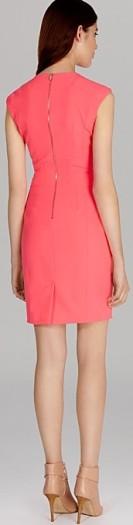 'Neon Scuba Dress' i Pink Karen Millen bak