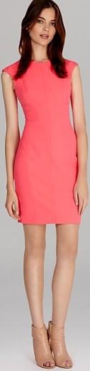 'Neon Scuba Dress' i Pink Karen Millen fram