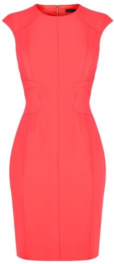 'Neon Scuba Dress' i Pink Karen Millen singel