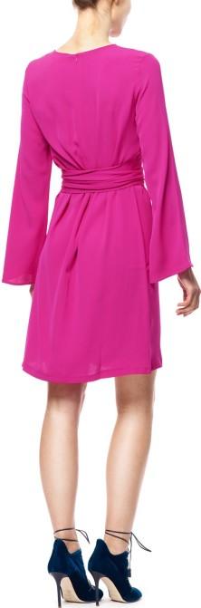 'Emmie' Dress i Bright Pink Greta bak (1)