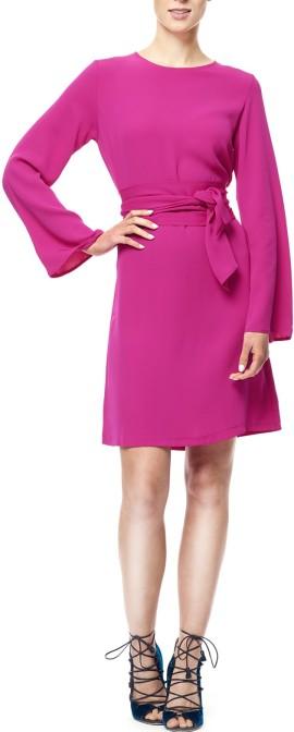 'Emmie' Dress i Bright Pink Greta bak (2)