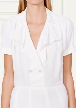 'Eva' Sablé Dress i Off White Ralph Lauren fram närbild