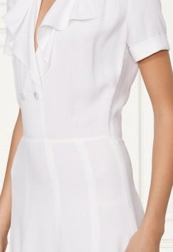 'Eva' Sablé Dress i Off White Ralph Lauren sida närbild