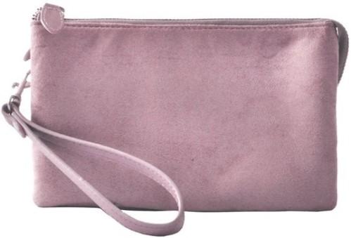 Fake Suede Three Pocket Bag i Dusty Pink Ceannis