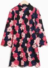 Floral Crochet Dress i Pink & Other Stories singel