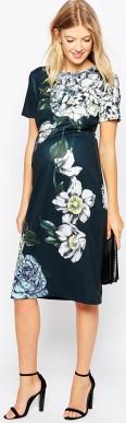 Floral Scuba Dress i Multi fram2