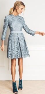 'Ginger' Dress i Dove Blue By Malina fram