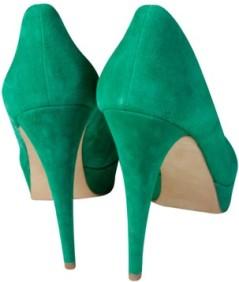 Gröna pumps By Malene Birger bak