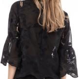 'Hiba' Blus i Black By Malina bak