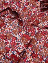 'Janina' Blouse i Red Flower Lexington närbild