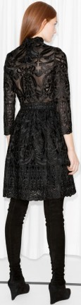 Lace Dress Black &Other Stories bak