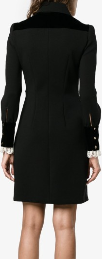 Lace-Trimmed Long Sleeve Dress Philosophy di Lorenzo Serafini bak