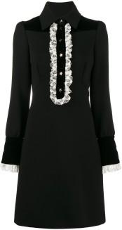 Lace-Trimmed Long Sleeve Dress Philosophy di Lorenzo Serafini