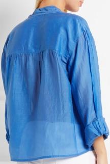 Laper cotton and silk-blend blouse i Azure från Étoile Isabel Marant bak