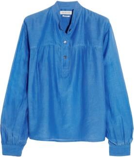 Laper cotton and silk-blend blouse i Azure från Étoile Isabel Marant fram