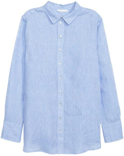 Linneskjorta blå