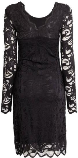 Mama Spetsklänning i Svart HM bak