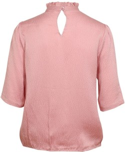 'Marble' Silk Top i Petal Pink Rodebjer bak
