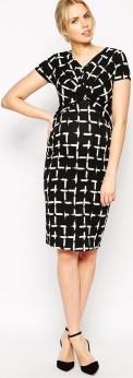 Maternity Dress i Check Print ASOS fram (1)