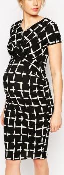 Maternity Dress i Check Print ASOS närbild